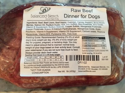K9sOverCoffee | Balanced Blends Raw Beef Ingredients