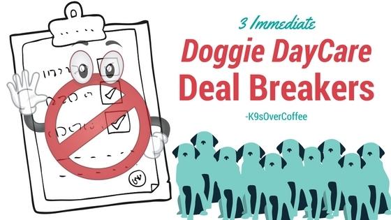 K9sOverCoffee | 3 Immediate Doggie DayCare Deal Breakers