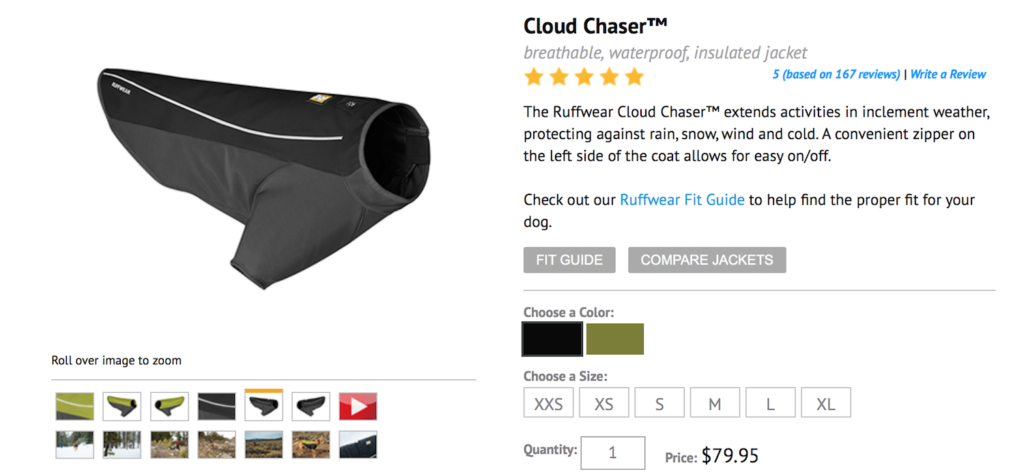 K9sOverCoffee | Buzz's Cloud Chaser Retails For $79.95 at Ruffwear