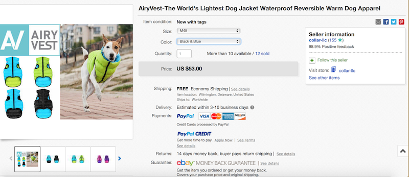 K9sOverCoffee | CoLLaR's M45 Airy Vest Retails For $53 On Ebay