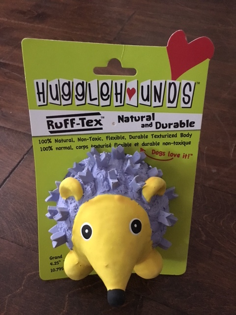 K9sOverCoffee | We Found A Natural And Durable Dog Toy That Floats - Ruff-Tex Violet The Hedgehog, Front Packaging