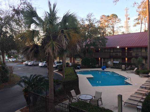 K9sOverCoffee | Winter Getaway to Hilton Head Island's Dog-Friendly Red Roof Inn - Outdoor Pool
