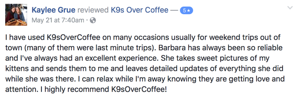 K9sOverCoffee | Happy Clients Review