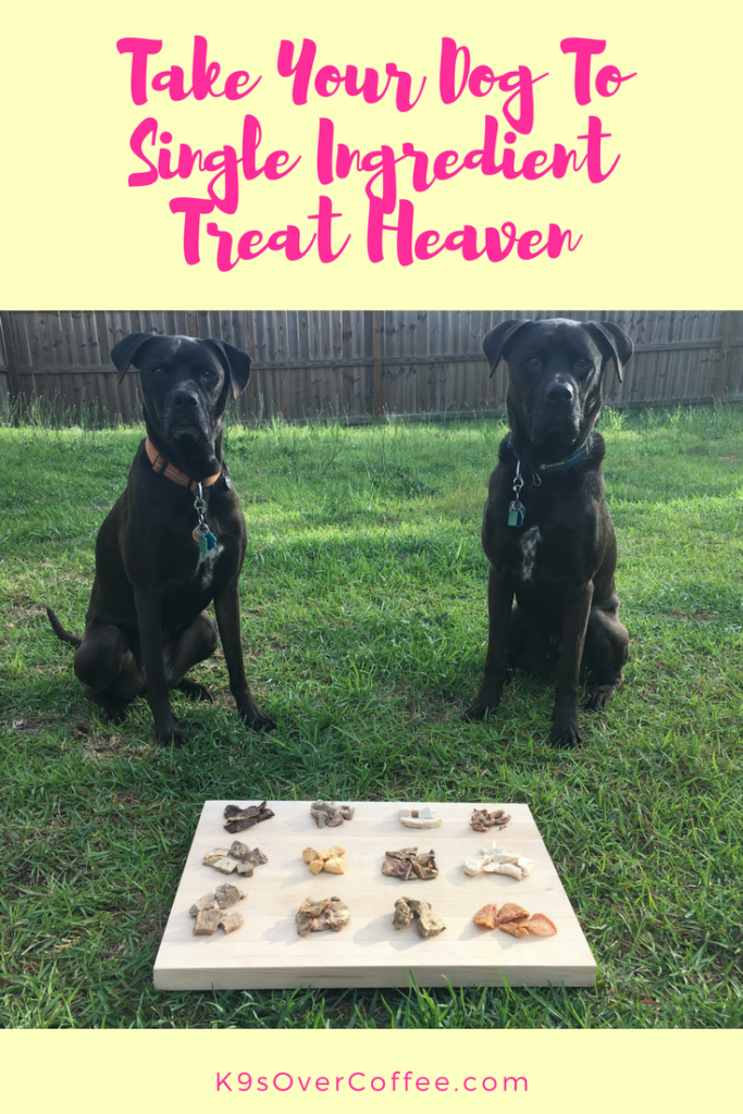 K9sOverCoffee | Take Your Dog To Single Ingredient Treat Heaven