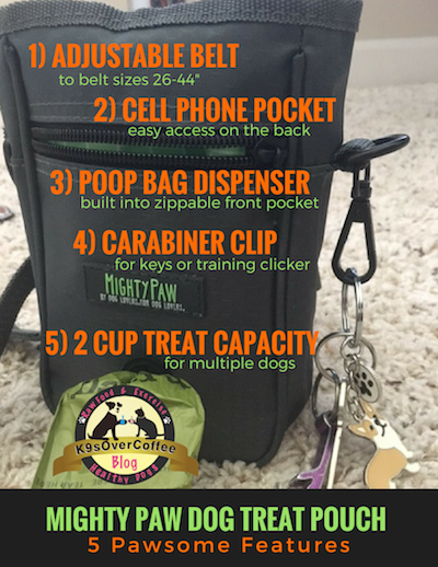 K9sOverCoffee | Mighty Paw Dog Treat Pouch - 5 Pawsome Features