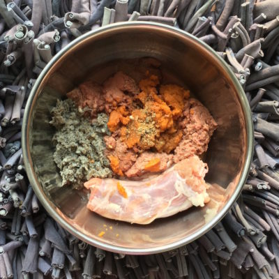 K9sOverCoffee | Balanced Raw Meal For Dogs With Turkey Neck