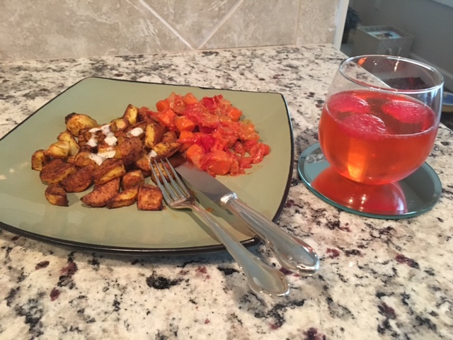 K9sOverCoffee | Delicious Watermelon For The Pups & For Myself - Summer Drink Paired With Turmeric Tator Tots & Sauteed Veggies
