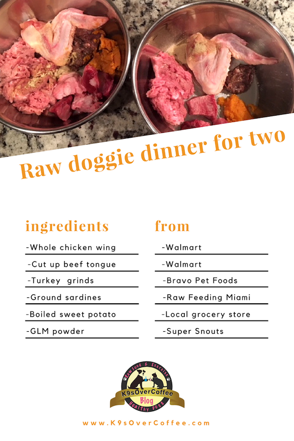 K9sOverCoffee | Raw Doggie Dinner For Two
