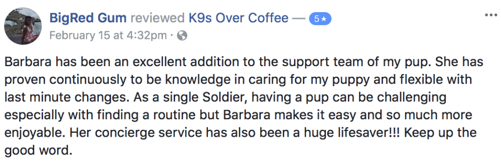 K9sOverCoffee | Happy Client Review #14