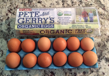Organic Eggs for our raw dog food