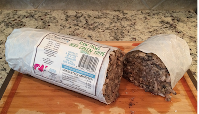 Green tripe is a great way of including healthy fats in raw dog food