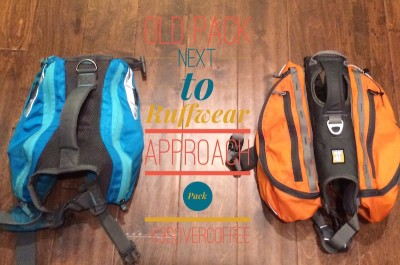 Old pack next to Ruffwear Approach Pack