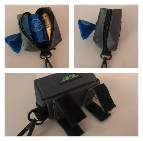K9sOverCoffee   Mighty Paw's Poop Bag Holder Is Spacious On The Inside & Features 2 Velcro Straps & A Clip