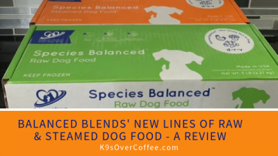 Balanced Blends launched two new lines of raw and steamed (= gently cooked) dog food. It's grain free, bone free, yet complete & balanced.